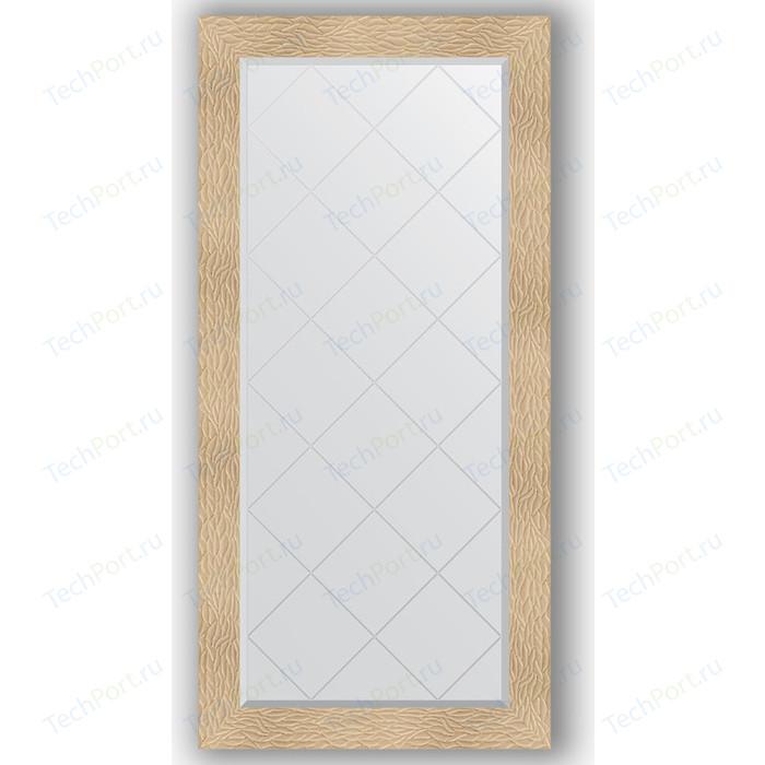 Зеркало с гравировкой поворотное Evoform Exclusive-G 76x158 см, в багетной раме - золотые дюны 90 мм (BY 4279) зеркало с гравировкой поворотное evoform exclusive g 56x74 см в багетной раме золотые дюны 90 мм by 4021