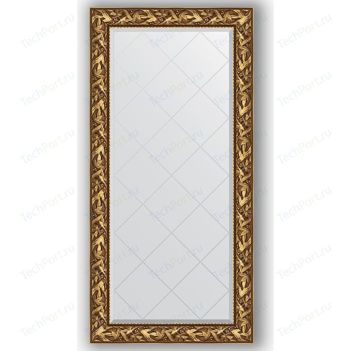 Зеркало с гравировкой поворотное Evoform Exclusive-G 79x161 см, в багетной раме - византия золото 99 мм (BY 4285)
