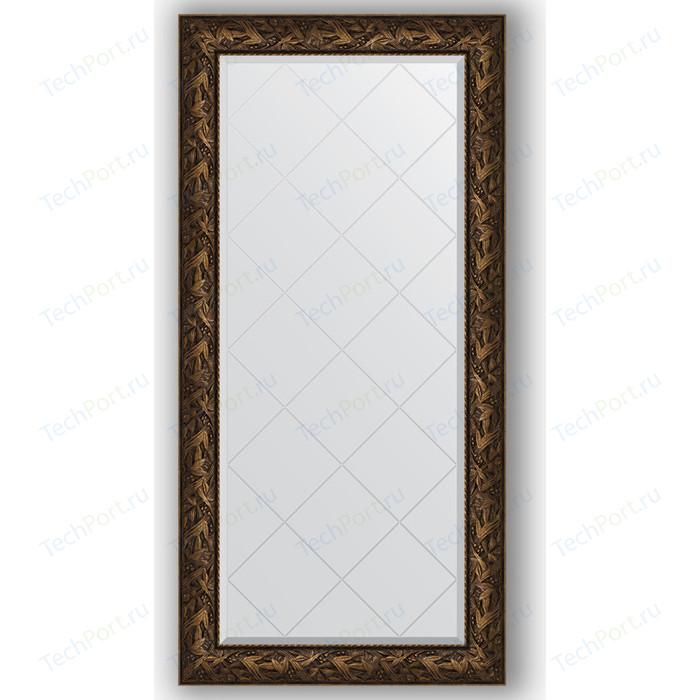 Зеркало с гравировкой поворотное Evoform Exclusive-G 79x161 см, в багетной раме - византия бронза 99 мм (BY 4287)
