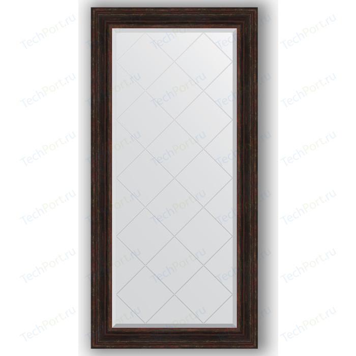 Зеркало с гравировкой поворотное Evoform Exclusive-G 79x161 см, в багетной раме - темный прованс 99 мм (BY 4291) зеркало с гравировкой поворотное evoform exclusive g 59x76 см в багетной раме темный прованс 99 мм by 4033