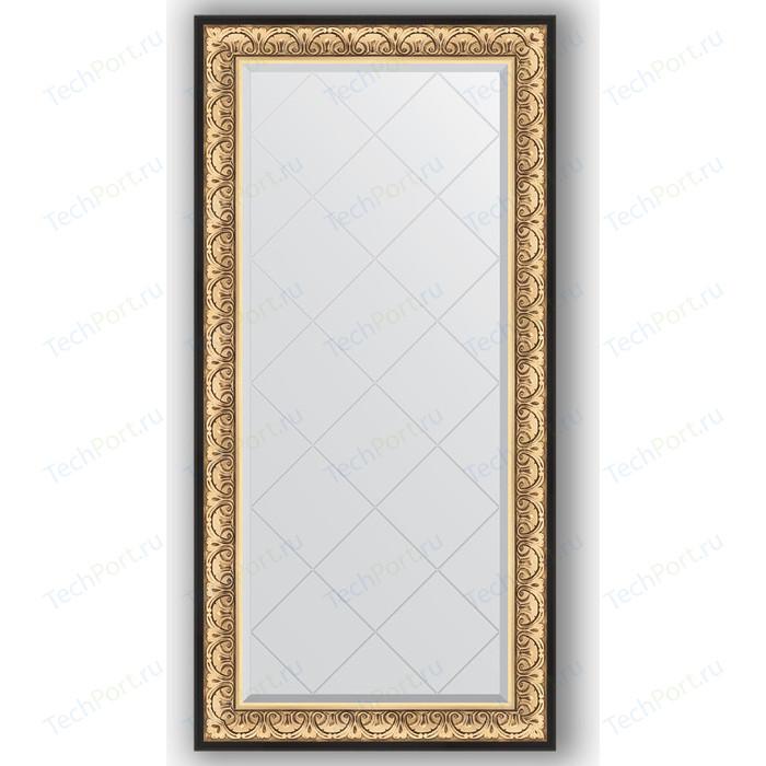 Зеркало с гравировкой поворотное Evoform Exclusive-G 80x162 см, в багетной раме - барокко золото 106 мм (BY 4294)