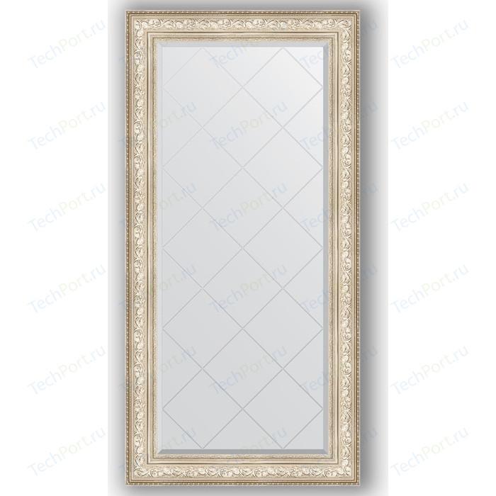 Зеркало с гравировкой поворотное Evoform Exclusive-G 80x162 см, в багетной раме - виньетка серебро 109 мм (BY 4297) зеркало с фацетом в багетной раме поворотное evoform exclusive 80x110 см виньетка серебро 109 мм by 3478