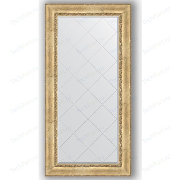 Зеркало с гравировкой поворотное Evoform Exclusive-G 82x164 см, в багетной раме - состаренное серебро орнаментом 120 мм (BY 4299)