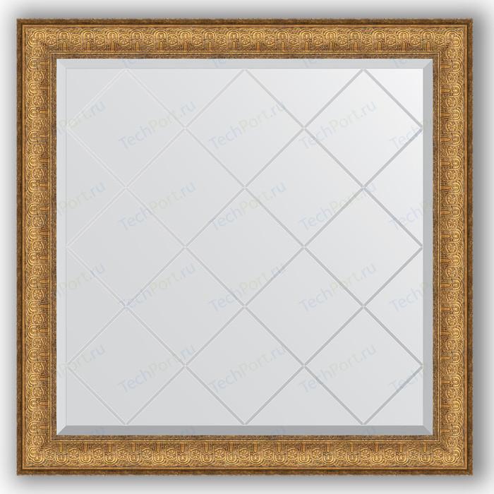 Зеркало с гравировкой Evoform Exclusive-G 84x84 см, в багетной раме - медный эльдорадо 73 мм (BY 4309)