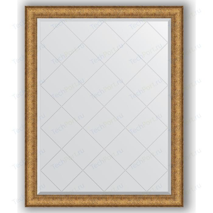 Зеркало с гравировкой поворотное Evoform Exclusive-G 94x119 см, в багетной раме - медный эльдорадо 73 мм (BY 4352)