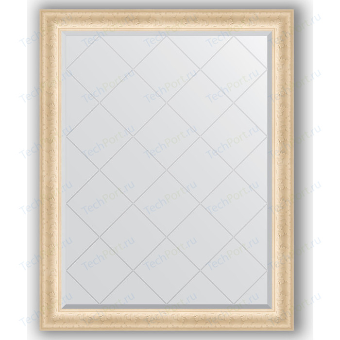 Зеркало с гравировкой поворотное Evoform Exclusive-G 95x120 см, в багетной раме - старый гипс 82 мм (BY 4355) зеркало evoform exclusive g floor 200х110 старый гипс