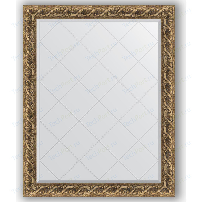 Зеркало с гравировкой поворотное Evoform Exclusive-G 96x121 см, в багетной раме - фреска 84 мм (BY 4356)