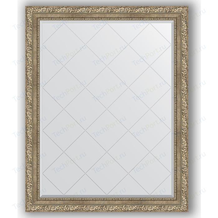 Зеркало с гравировкой поворотное Evoform Exclusive-G 95x120 см, в багетной раме - виньетка античное серебро 85 мм (BY 4358)