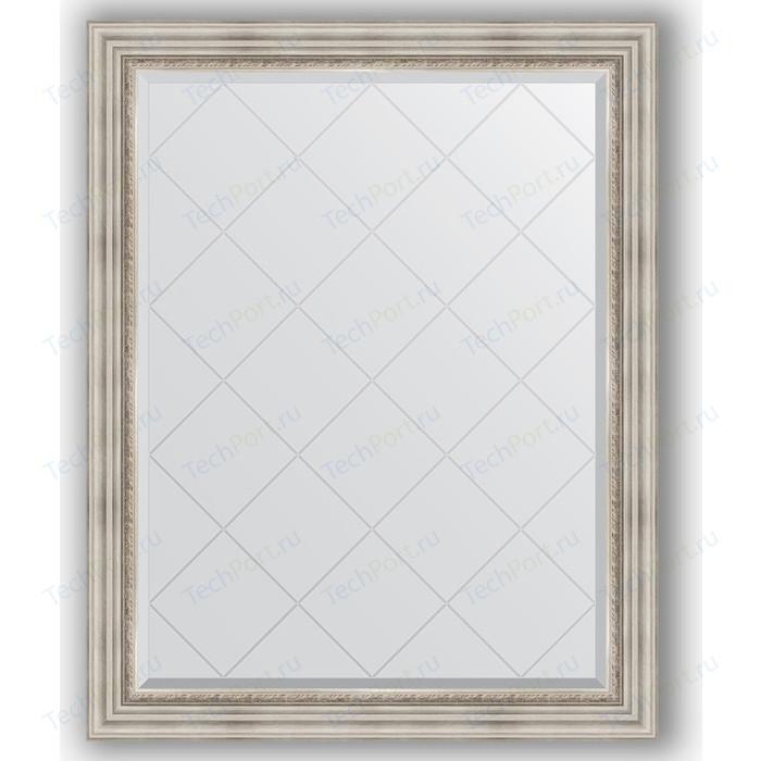 Зеркало с гравировкой поворотное Evoform Exclusive-G 96x121 см, в багетной раме - римское серебро 88 мм (BY 4362) зеркало с гравировкой evoform exclusive g 86x86 см в багетной раме римское серебро 88 мм by 4319