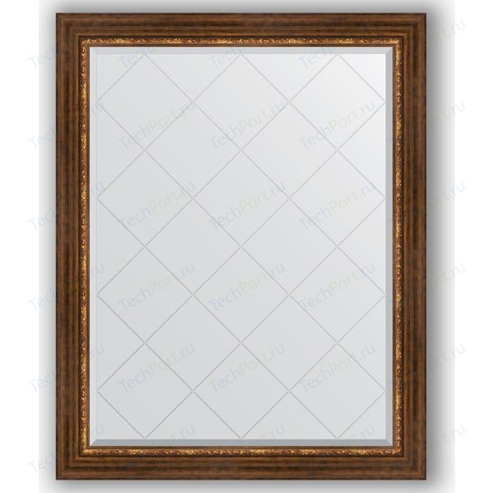Зеркало с гравировкой поворотное Evoform Exclusive-G 96x121 см, в багетной раме - римская бронза 88 мм (BY 4363)