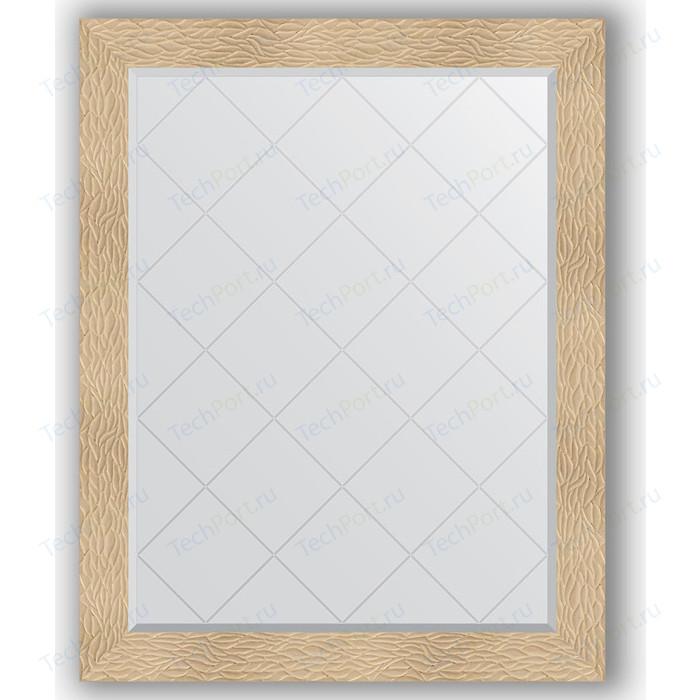 Зеркало с гравировкой поворотное Evoform Exclusive-G 96x121 см, в багетной раме - золотые дюны 90 мм (BY 4365) зеркало с гравировкой поворотное evoform exclusive g 56x74 см в багетной раме золотые дюны 90 мм by 4021