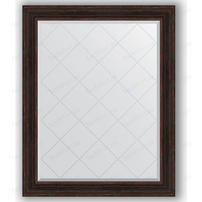 Зеркало с гравировкой поворотное Evoform Exclusive-G 99x124 см, в багетной раме - темный прованс 99 мм (BY 4377) зеркало с гравировкой поворотное evoform exclusive g 59x76 см в багетной раме темный прованс 99 мм by 4033