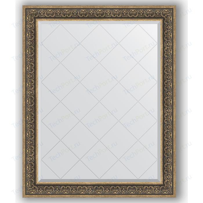 Зеркало с гравировкой поворотное Evoform Exclusive-G 99x124 см, в багетной раме - вензель серебряный 101 мм (BY 4379)