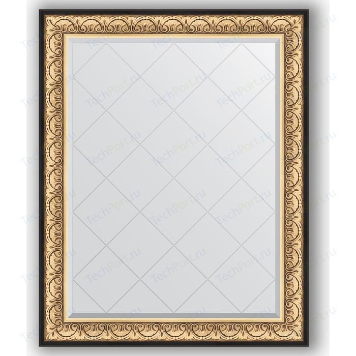 Зеркало с гравировкой поворотное Evoform Exclusive-G 100x125 см, в багетной раме - барокко золото 106 мм (BY 4380)