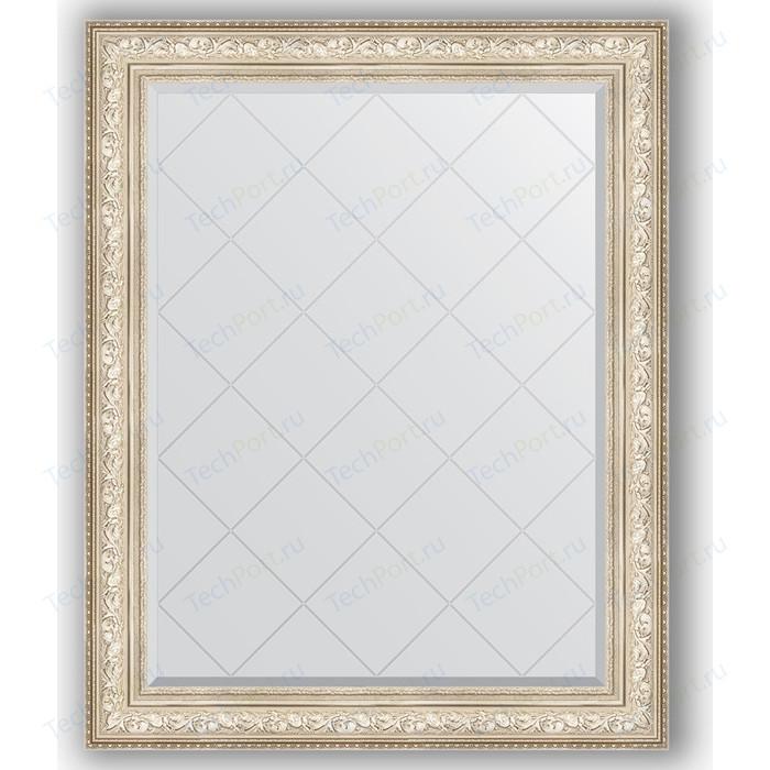 Зеркало с гравировкой поворотное Evoform Exclusive-G 100x125 см, в багетной раме - виньетка серебро 109 мм (BY 4383) зеркало с фацетом в багетной раме поворотное evoform exclusive 80x110 см виньетка серебро 109 мм by 3478