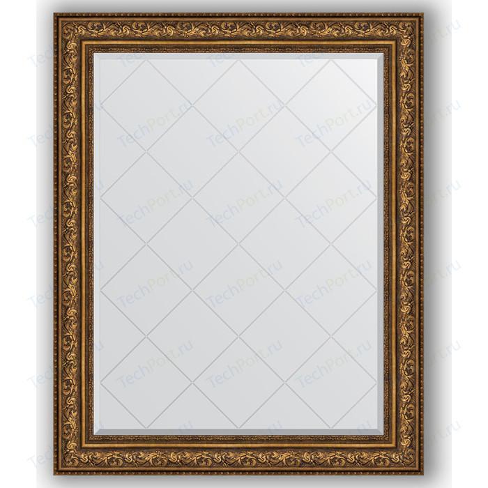 Зеркало с гравировкой поворотное Evoform Exclusive-G 100x125 см, в багетной раме - виньетка состаренная бронза 109 мм (BY 4384) зеркало с фацетом в багетной раме evoform exclusive 60x80 см виньетка состаренная бронза 109 мм by 3401