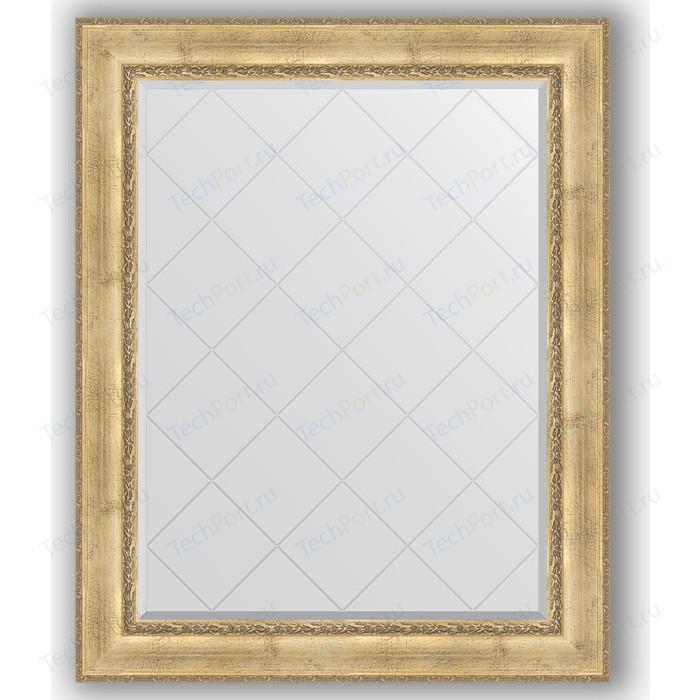 Зеркало с гравировкой поворотное Evoform Exclusive-G 102x127 см, в багетной раме - состаренное серебро орнаментом 120 мм (BY 4385)
