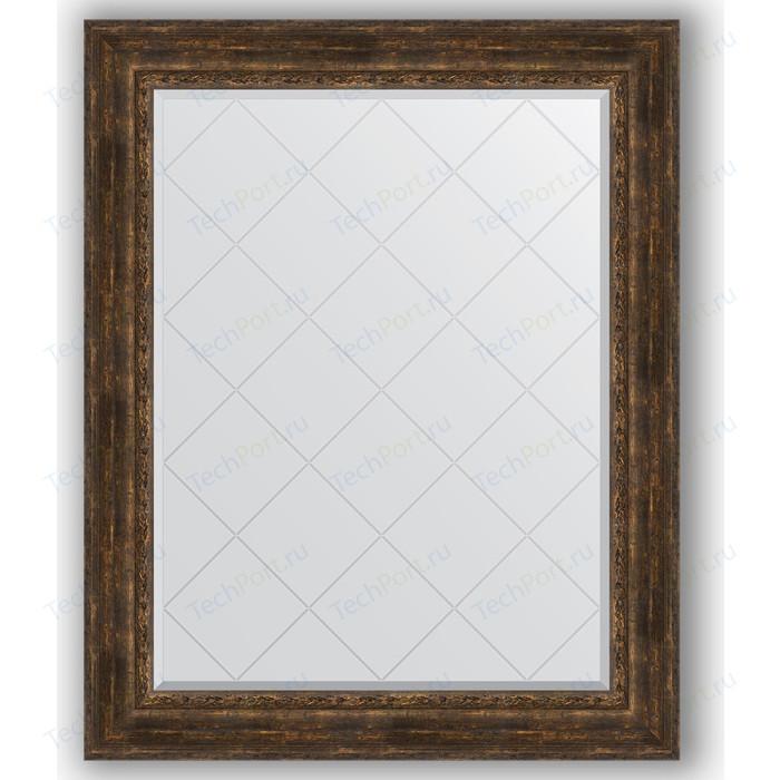 Зеркало с гравировкой поворотное Evoform Exclusive-G 102x127 см, в багетной раме - состаренное дерево с орнаментом 120 мм (BY 4387) зеркало с фацетом в багетной раме поворотное evoform exclusive 62x92 см состаренное дерево с орнаментом 120 мм by 3430