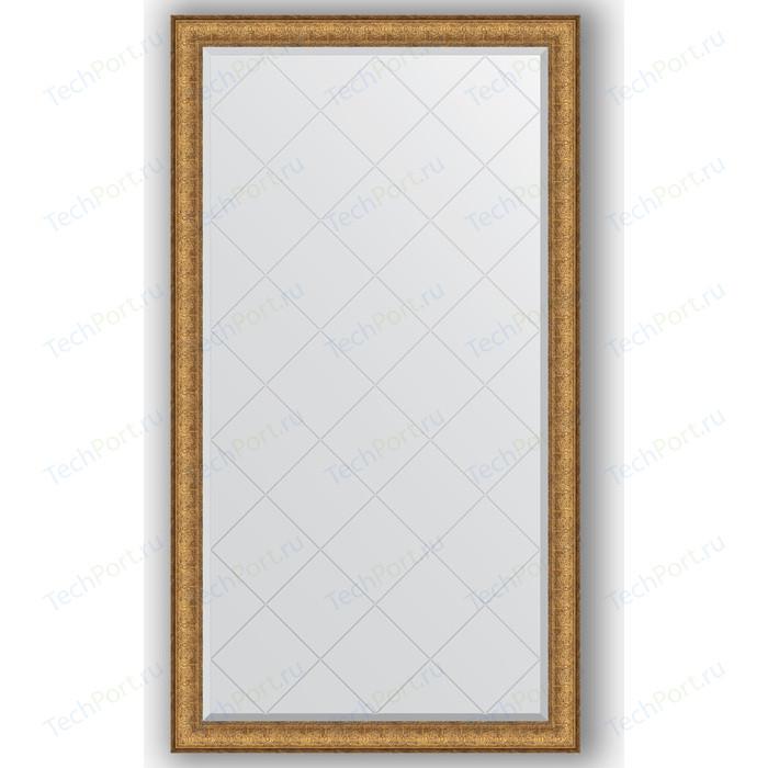 Зеркало с гравировкой поворотное Evoform Exclusive-G 94x168 см, в багетной раме - медный эльдорадо 73 мм (BY 4395)