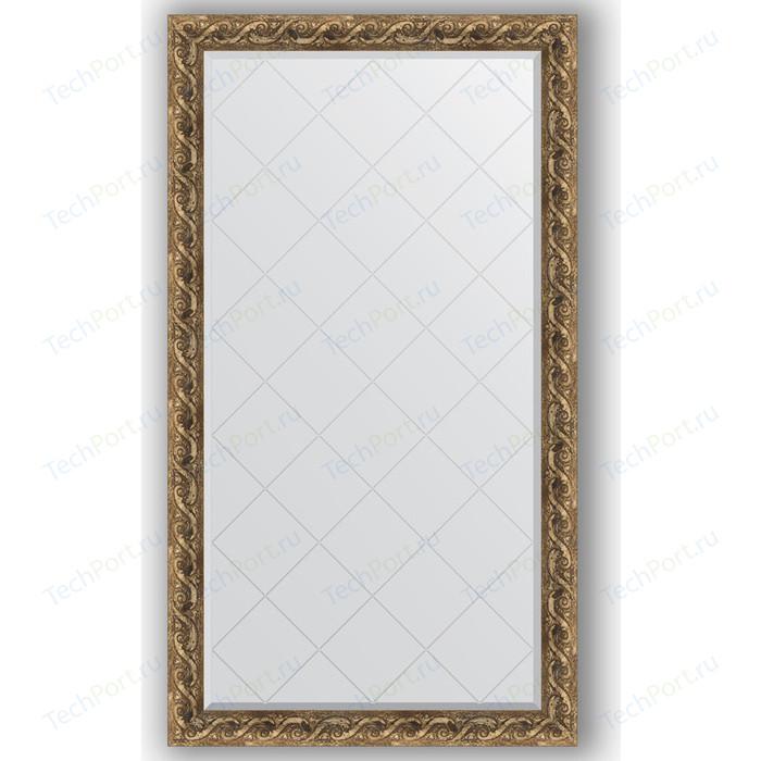 Зеркало с гравировкой поворотное Evoform Exclusive-G 96x170 см, в багетной раме - фреска 84 мм (BY 4399)