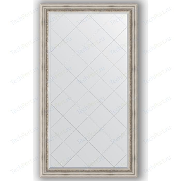 Зеркало с гравировкой поворотное Evoform Exclusive-G 96x171 см, в багетной раме - римское серебро 88 мм (BY 4405) зеркало с гравировкой evoform exclusive g 86x86 см в багетной раме римское серебро 88 мм by 4319