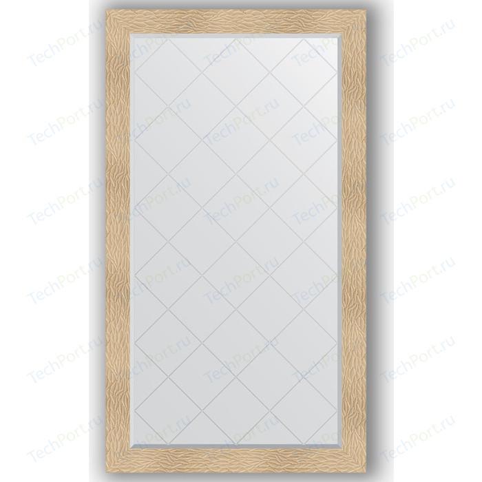 Зеркало с гравировкой поворотное Evoform Exclusive-G 96x171 см, в багетной раме - золотые дюны 90 мм (BY 4408) зеркало с гравировкой поворотное evoform exclusive g 56x74 см в багетной раме золотые дюны 90 мм by 4021