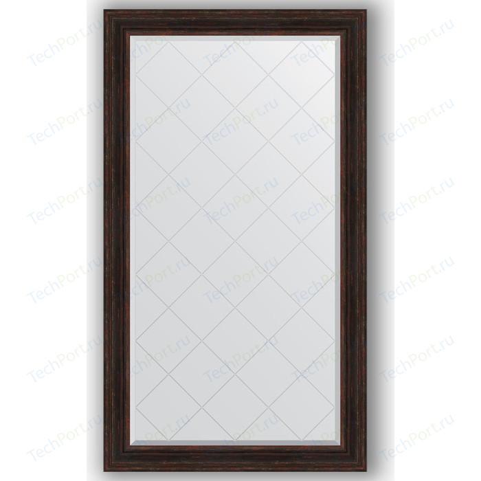 Зеркало с гравировкой поворотное Evoform Exclusive-G 99x174 см, в багетной раме - темный прованс 99 мм (BY 4420) зеркало с гравировкой поворотное evoform exclusive g 59x76 см в багетной раме темный прованс 99 мм by 4033