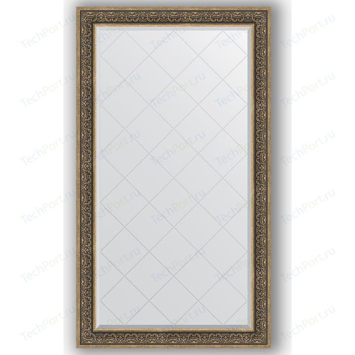 цены Зеркало с гравировкой поворотное Evoform Exclusive-G 99x174 см, в багетной раме - вензель серебряный 101 мм (BY 4422)