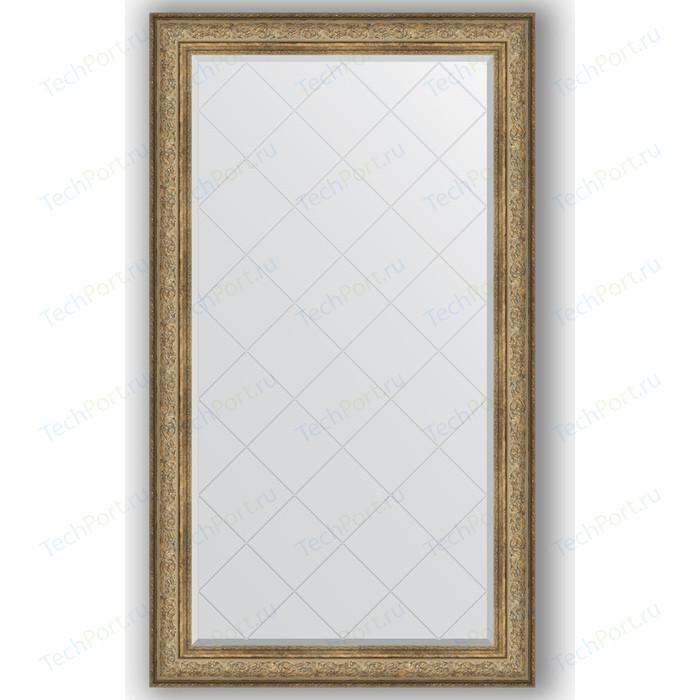 Зеркало с гравировкой поворотное Evoform Exclusive-G 100x175 см, в багетной раме - виньетка античная бронза 109 мм (BY 4425)