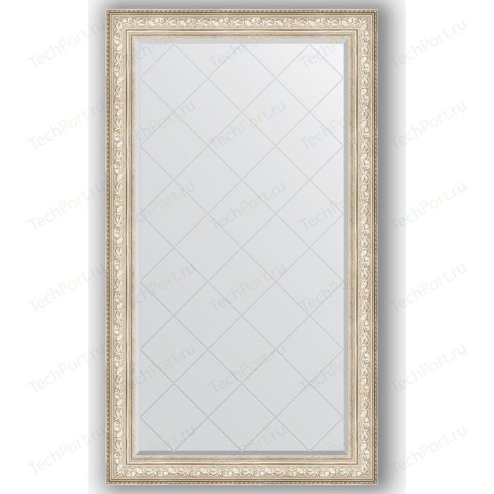 Зеркало с гравировкой поворотное Evoform Exclusive-G 100x175 см, в багетной раме - виньетка серебро 109 мм (BY 4426)