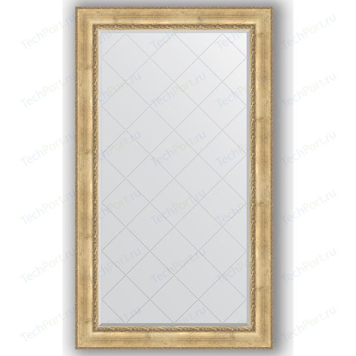 Зеркало с гравировкой поворотное Evoform Exclusive-G 102x177 см, в багетной раме - состаренное серебро орнаментом 120 мм (BY 4428)