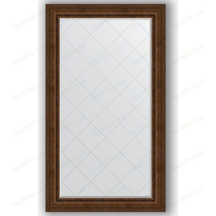 Зеркало с гравировкой поворотное Evoform Exclusive-G 102x177 см, в багетной раме - состаренная бронза орнаментом 120 мм (BY 4429)