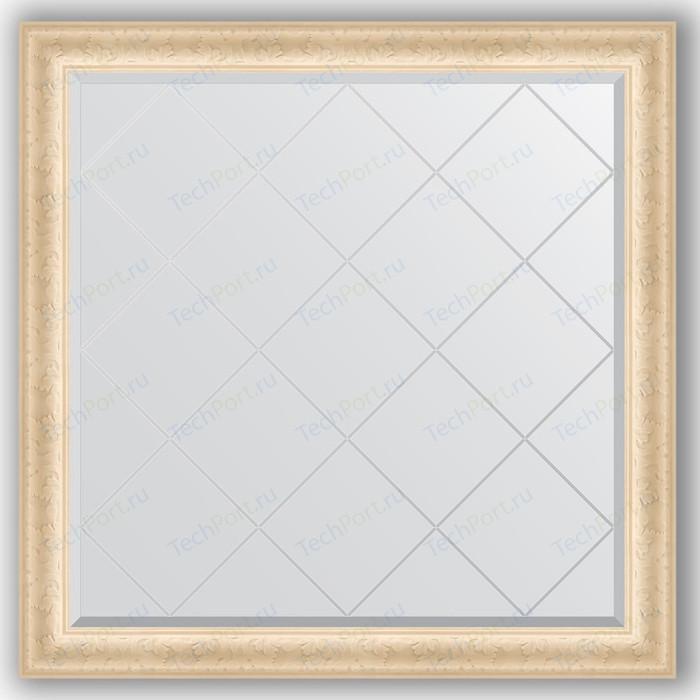 Зеркало с гравировкой Evoform Exclusive-G 105x105 см, в багетной раме - старый гипс 82 мм (BY 4441)