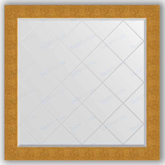 Фото - Зеркало с гравировкой Evoform Exclusive-G 106x106 см, в багетной раме - чеканка золотая 90 мм (BY 4452) зеркало с гравировкой поворотное evoform exclusive g 66x89 см в багетной раме чеканка золотая 90 мм by 4108