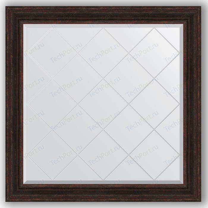 Зеркало с гравировкой Evoform Exclusive-G 109x109 см, в багетной раме - темный прованс 99 мм (BY 4463)