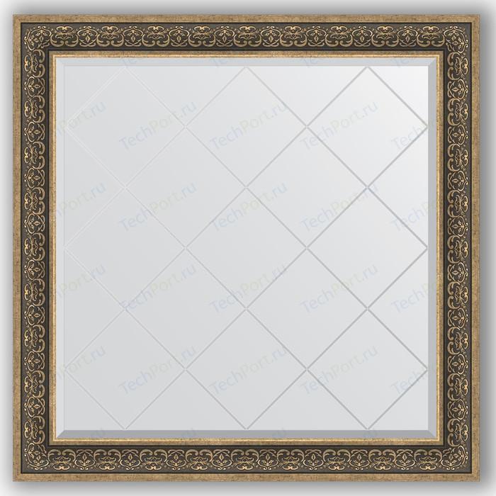 Зеркало с гравировкой Evoform Exclusive-G 109x109 см, в багетной раме - вензель серебряный 101 мм (BY 4465)