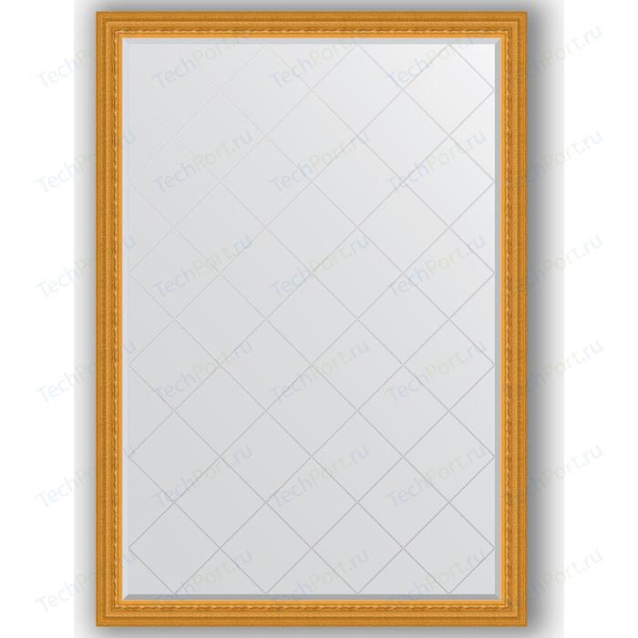 Зеркало с гравировкой поворотное Evoform Exclusive-G 130x184 см, в багетной раме - сусальное золото 80 мм (BY 4482) зеркало evoform exclusive floor 199х100 сусальное золото