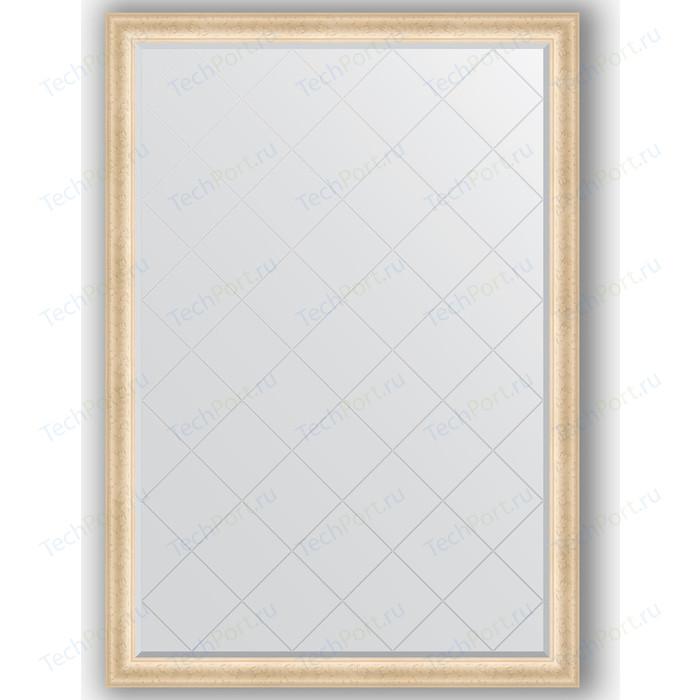 Зеркало с гравировкой поворотное Evoform Exclusive-G 130x185 см, в багетной раме - старый гипс 82 мм (BY 4484) зеркало evoform exclusive g floor 200х110 старый гипс