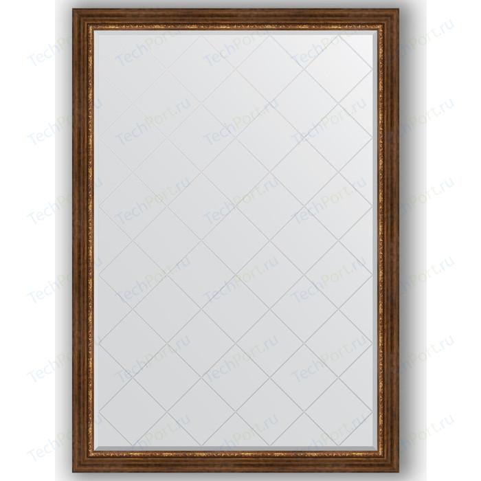 Зеркало с гравировкой поворотное Evoform Exclusive-G 131x186 см, в багетной раме - римская бронза 88 мм (BY 4492)