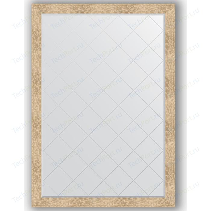Зеркало с гравировкой поворотное Evoform Exclusive-G 131x186 см, в багетной раме - золотые дюны 90 мм (BY 4494) зеркало с гравировкой поворотное evoform exclusive g 56x74 см в багетной раме золотые дюны 90 мм by 4021