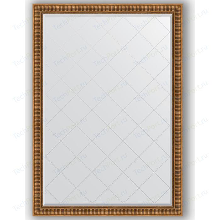 Зеркало с гравировкой поворотное Evoform Exclusive-G 132x187 см, в багетной раме - бронзовый акведук 93 мм (BY 4498)
