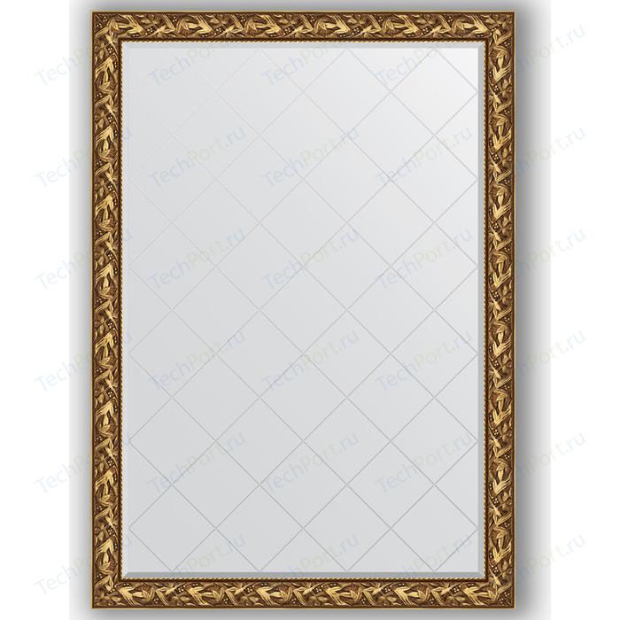 Зеркало с гравировкой поворотное Evoform Exclusive-G 134x188 см, в багетной раме - византия золото 99 мм (BY 4500)