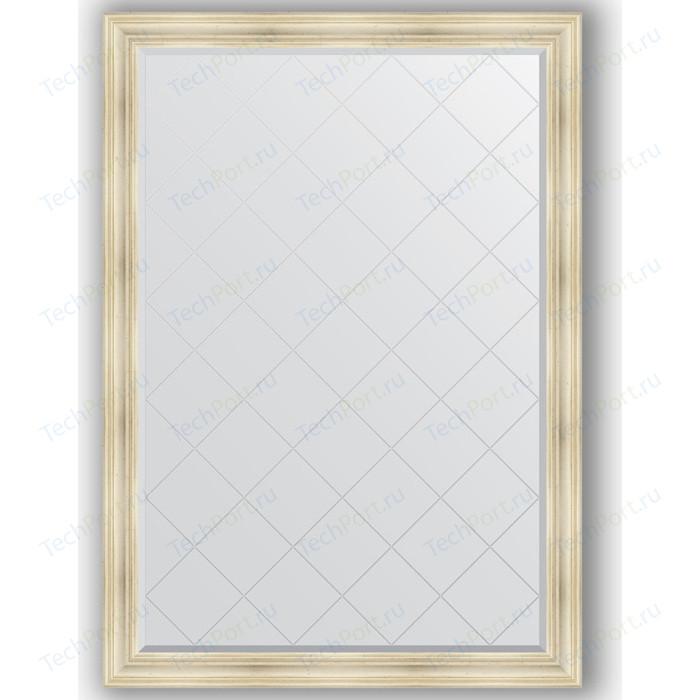 Фото - Зеркало с гравировкой поворотное Evoform Exclusive-G 134x189 см, в багетной раме - травленое серебро 99 мм (BY 4504) зеркало в багетной раме поворотное evoform definite 82x102 см травленое серебро 99 мм by 3284