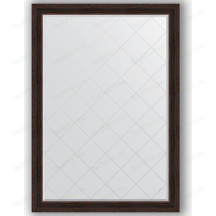 Зеркало с гравировкой поворотное Evoform Exclusive-G 134x189 см, в багетной раме - темный прованс 99 мм (BY 4506) зеркало с гравировкой поворотное evoform exclusive g 59x76 см в багетной раме темный прованс 99 мм by 4033