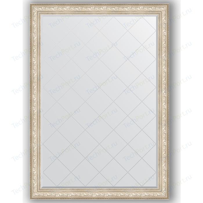 Зеркало с гравировкой поворотное Evoform Exclusive-G 135x190 см, в багетной раме - виньетка серебро 109 мм (BY 4512) зеркало с фацетом в багетной раме поворотное evoform exclusive 80x110 см виньетка серебро 109 мм by 3478