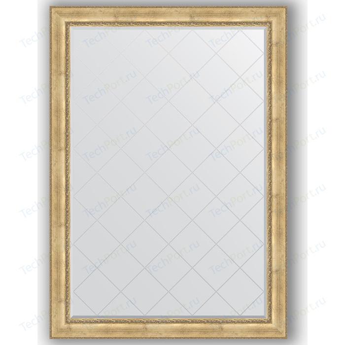 Зеркало с гравировкой поворотное Evoform Exclusive-G 137x192 см, в багетной раме - состаренное серебро орнаментом 120 мм (BY 4514)
