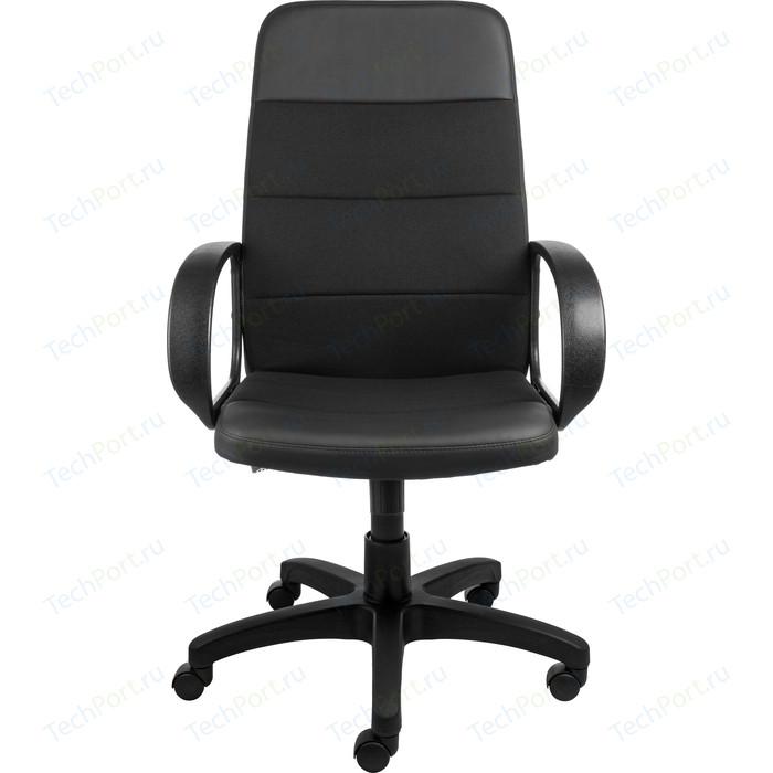 Кресло Алвест AV 112 PL (727) MK ткань 418 черная / кз 311 черный кресло алвест av 112 pl 727 mk ткань 418 черная кз 311 черный