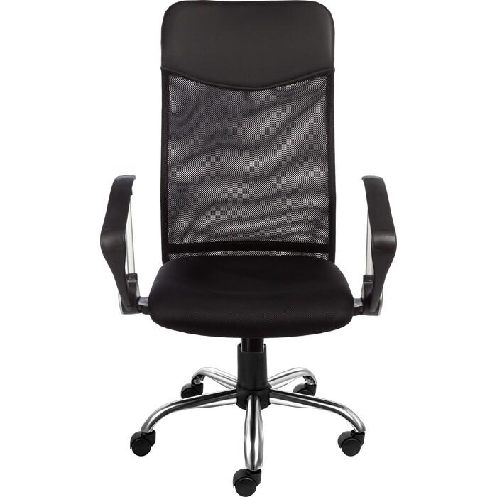 Кресло Алвест AV 128 CH (682 SL) МК кз TW сетка/сетка односл 311/455/470 черн/черн/черная кресло алвест av 112 pl 727 mk ткань 418 черная кз 311 черный