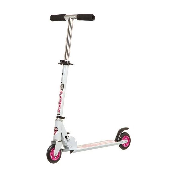 Самокат городской FOXX Extreme Power сталь PVC колеса 100мм, ABEC-7, бело-розовый (100EP.FOXX.WPN7)