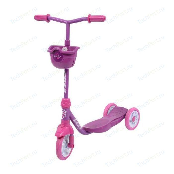 Самокат городской FOXX Baby с пластиковой платформой и EVA колеса ми 115мм, корзинка, фиолетовый (115BABY.PN7)